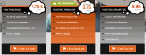 diferentes hostings