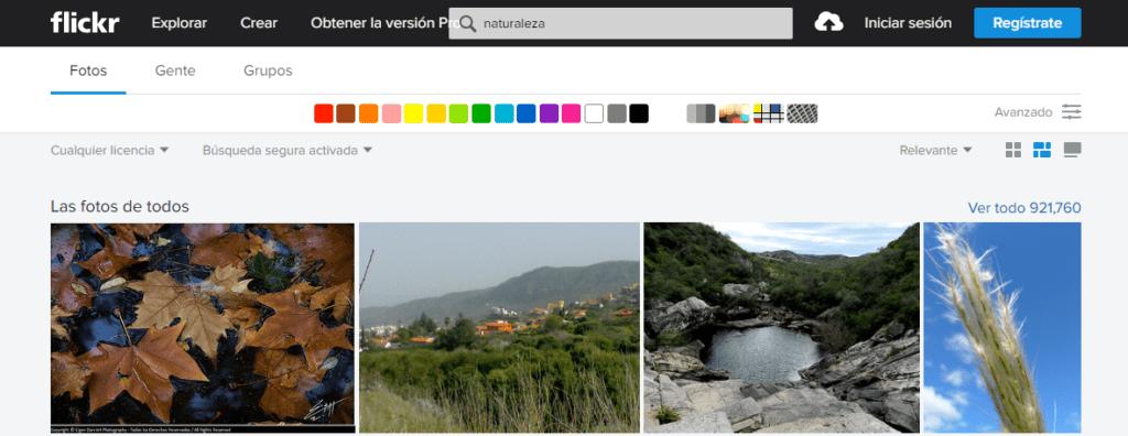 flickr bancos de imágenes gratuitos