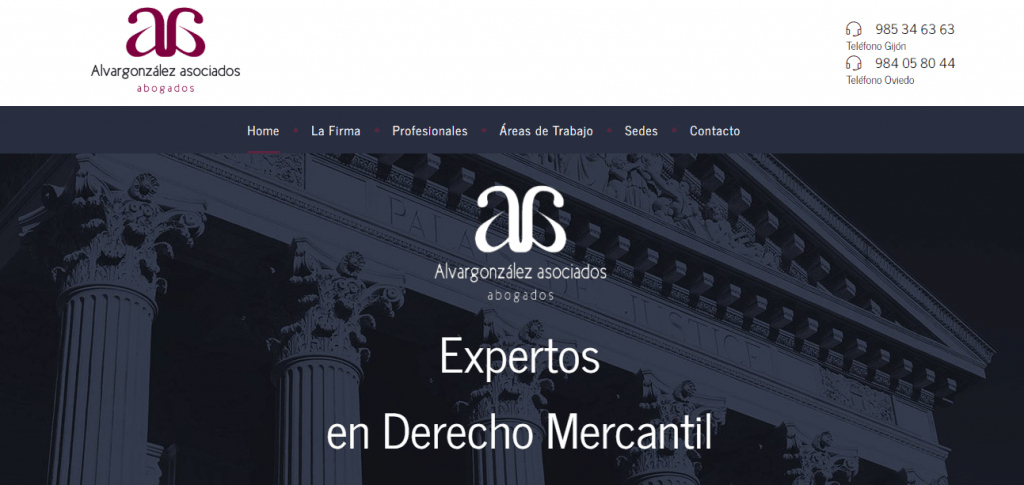 diseño web alvargonzalez asociados abogados png