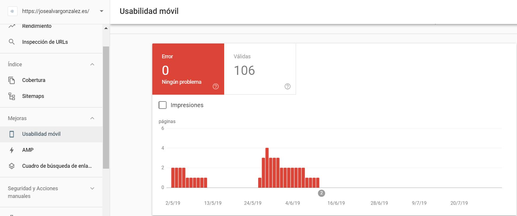 usabilidad movil guía de google search console